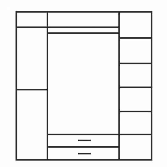 Оливия шкаф 4D2S 4-х створчатый