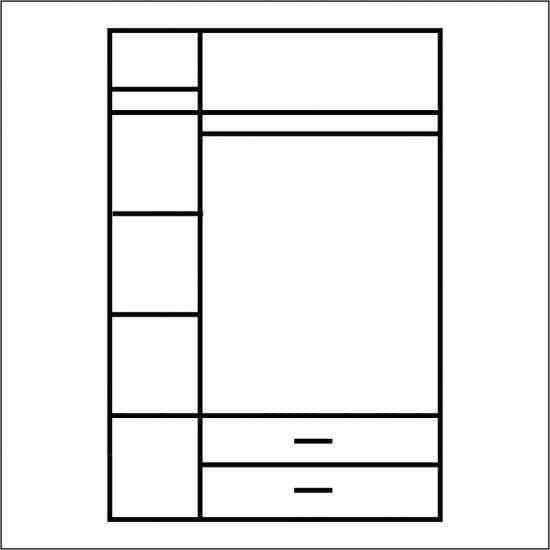 Шкаф 3дверный Магеллан 3DG2S дуб саттер