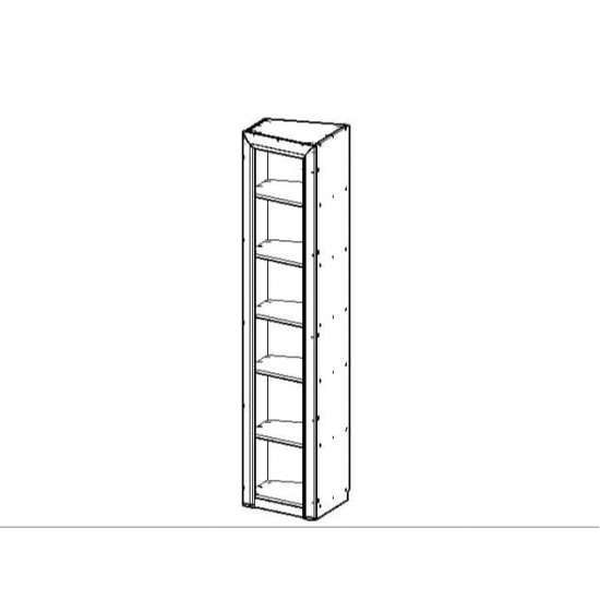 Оливия шкаф 1DTP скошенный