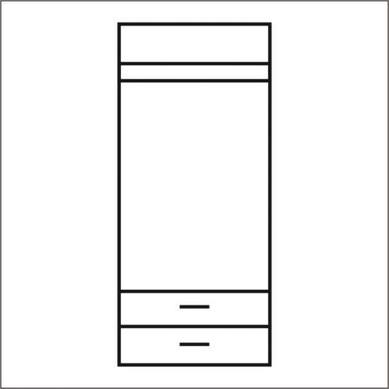 Шкаф распашной Магеллан 2DG2S двухстворчатый дуб саттер