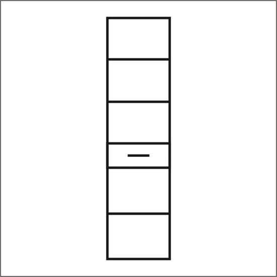 Шкаф одностворчатый Монако 2D1S анрекс