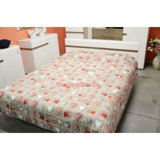 Кровать белая Линате 140 с подъемным механизмом
