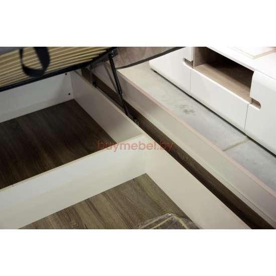 Кровать двуспальная Линате 160 с подъемником TYP 94-01 белая
