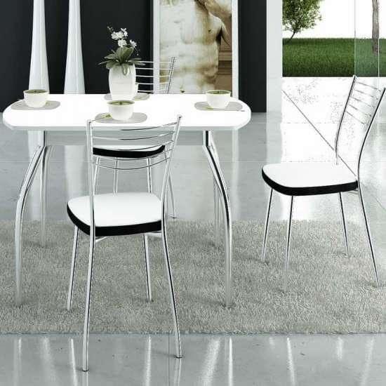 Обеденная группа: стол Танго ПО и стулья Омега