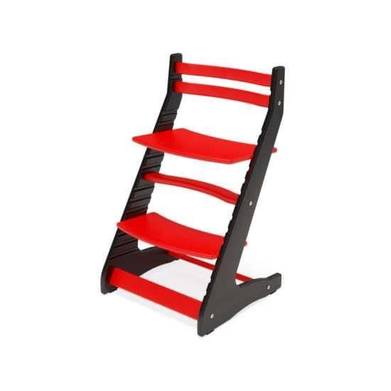 Детский стул Вырастайка 2D Черно-красный