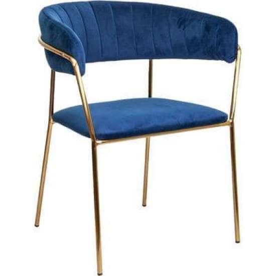 Кресло ЖЕНЕВА бархат с золотом
